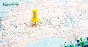 نقشه مهاجرت به استرالیا